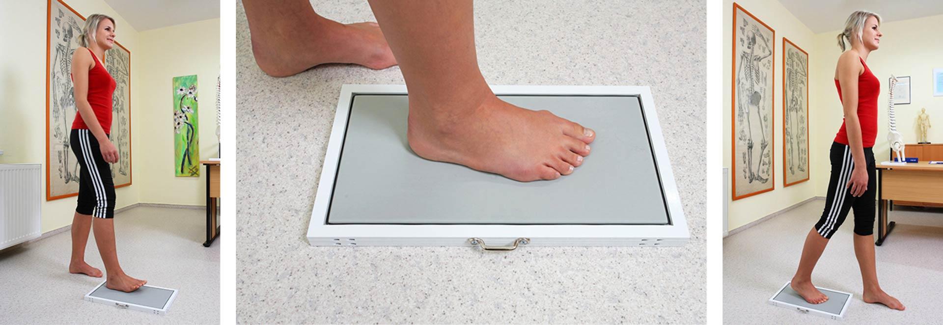 Podo-Posturaltherapie: dynamischer Fußabdruck mit Podografen